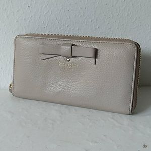 Tan North Court Bow Kate Spade Wallet